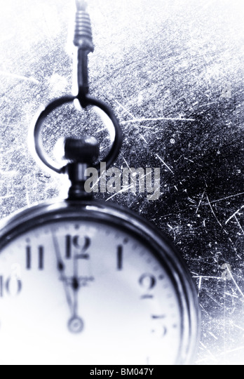 pocket watch with texture - Stock Image