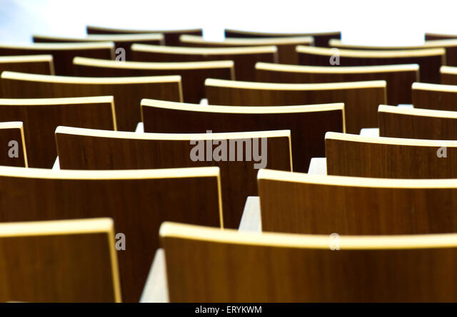 Designs in architecture form with chairs ;  Melbourne ; Victoria ; Australia - Stock Image