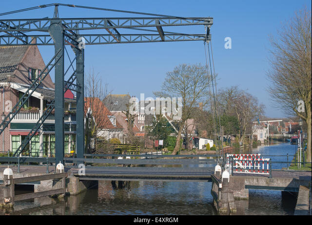 Village of Edam,Ijsselmeer,Netherlands - Stock Image