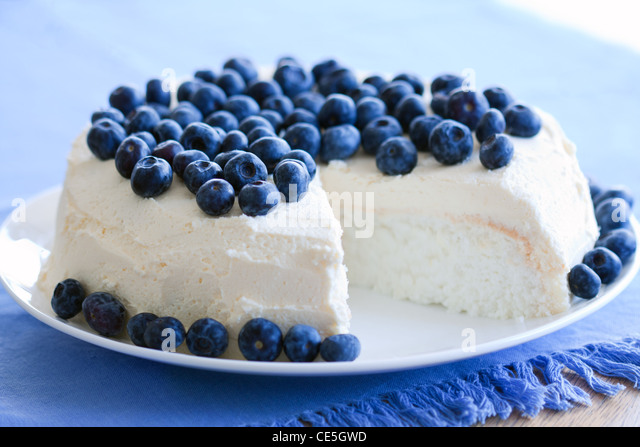 Angel food cake - Stock Image