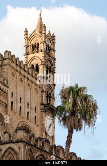 Palermo Cathedral, dedicated to Our Lady of the Assumption, built in 1179-85 - Stock Image
