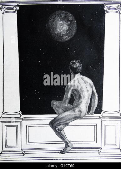 Illustration from Harmsworth History of the World: Man and the Universe - Stock Image