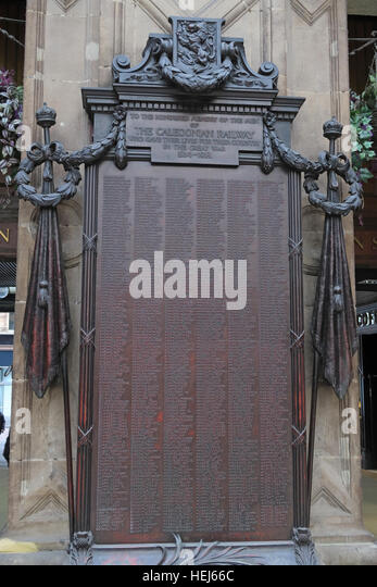 Glasgow Central Caledonian railway Great War memorial 1914-1918,Scotland,UK - Stock Image