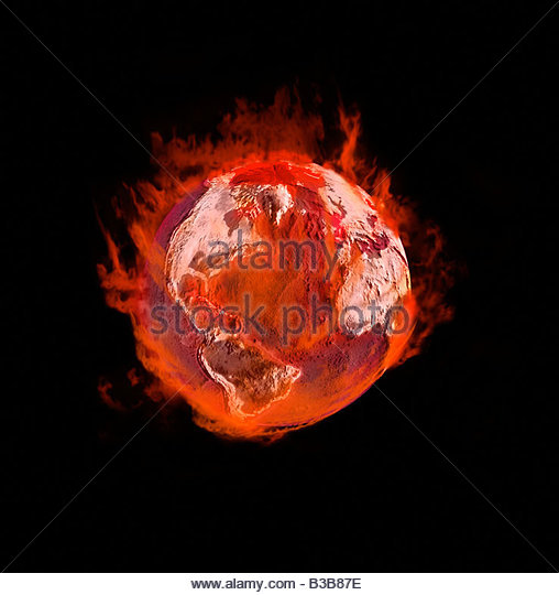 Earth on fire - Stock Image