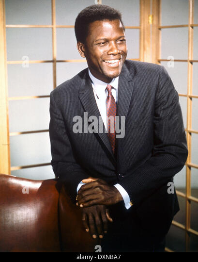 SIDNEY POITIER - Stock Image