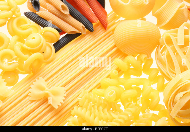 Back projected (lighted) macaroni (pasta) - Stock Image