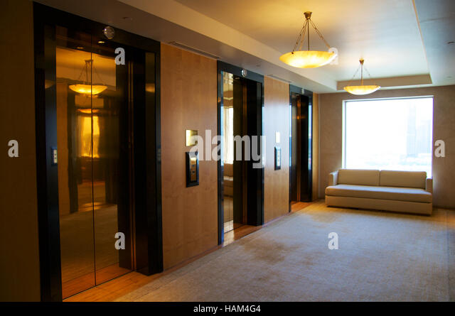 Lobby Lift Elevators Marble Stock Photos Lobby Lift