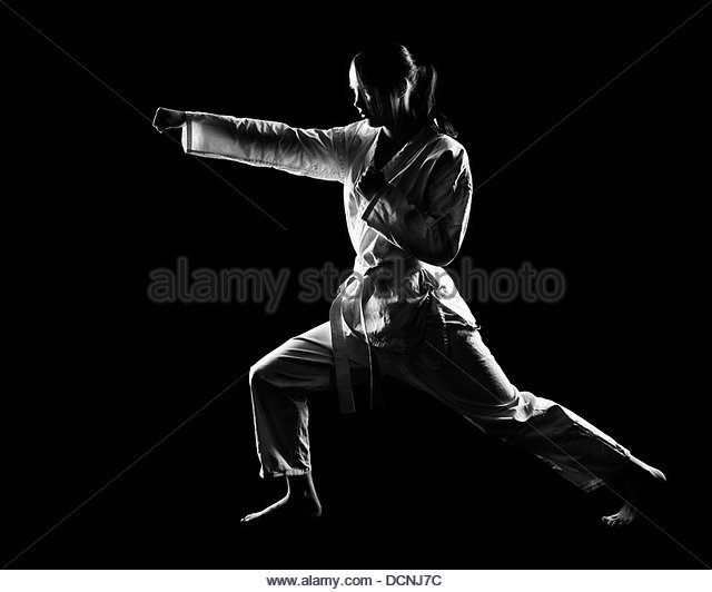 karate girl - Stock Image