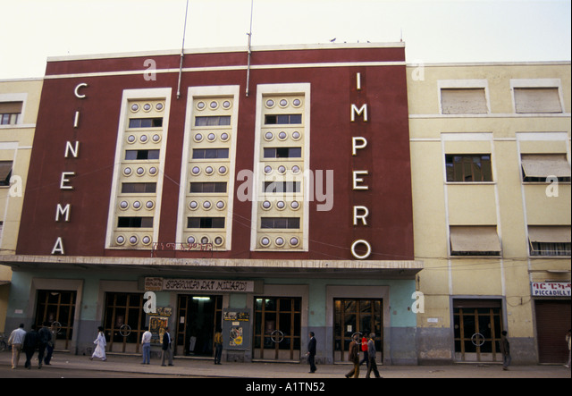 CINEMA IMPERO ERITREA 1993 - Stock Image