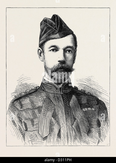 MAJOR-GENERAL D.C. DRURY-LOWE, C.B., IN COMMAND OF THE CAVALRY DURING THE RECENT WAR IN EGYPT - Stock Image