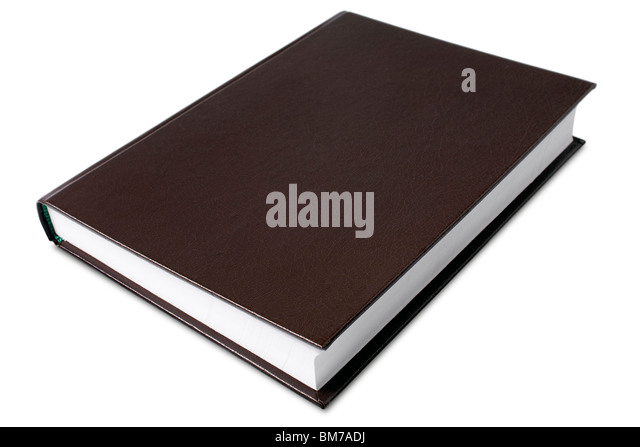 a hard cover book on white - with clipping path - Stock Image