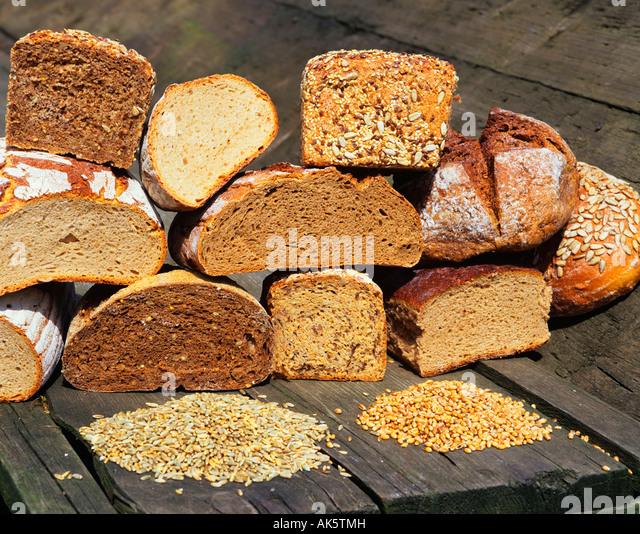 Whole-grain bread / Granary bread - Stock Image