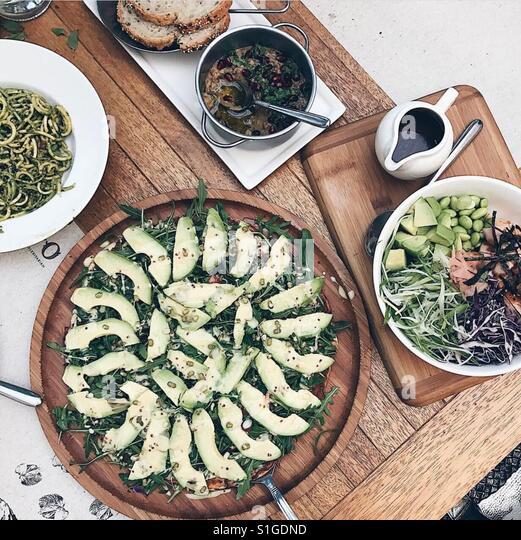 Eating healthy food daily. - Stock-Bilder