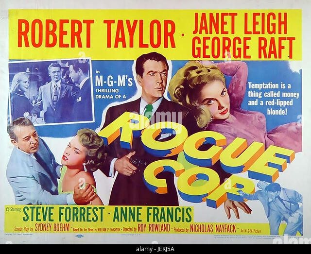 ROGUE COP 1954 MGM film with Robert Taylor and Janet Leigh - Stock-Bilder