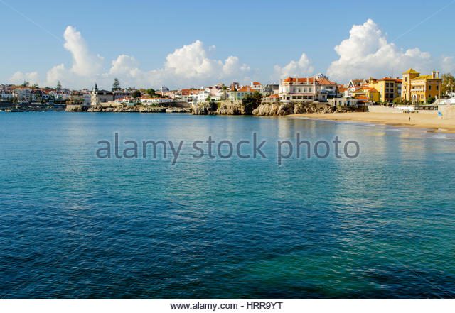 Cascais a beautiful city on the shores of the Atlantic ocean. - Stock Image