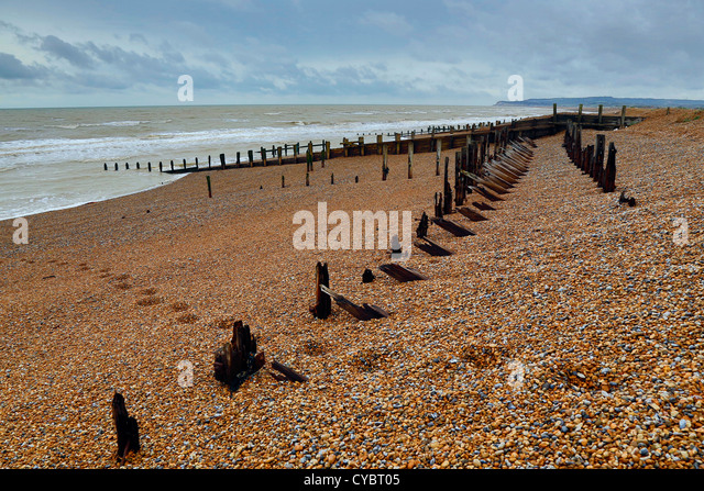 Rye; beach; East Sussex; UK - Stock Image