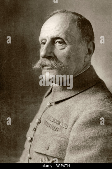 Marshal of France Ferdinand Foch 1851 to 1929. - Stock Image