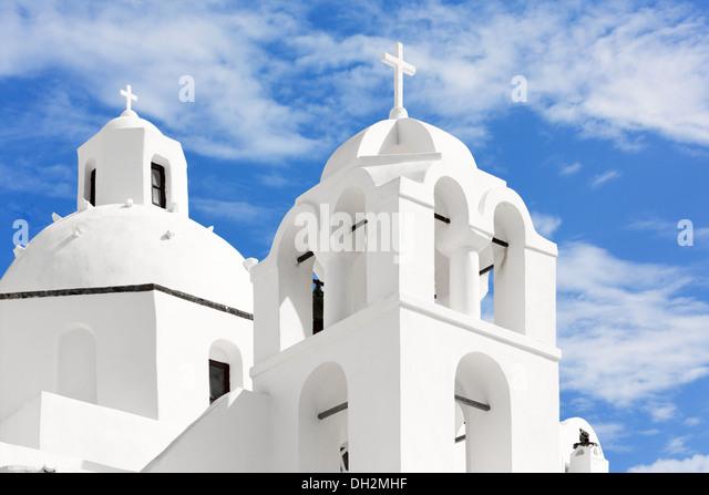 Church on the island of Santorini, Oia, Greece - Stock Image