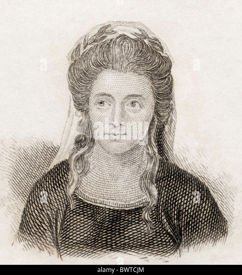 Anna Seward, 1747 to 1809. English Romantic poet, often called the Swan of Lichfield. - Stock Image