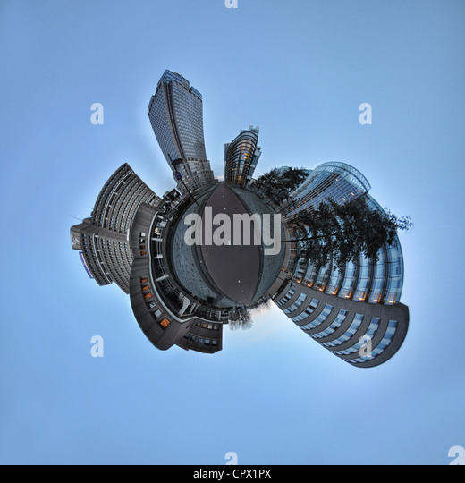 Amstel Business Park, Amsterdam, little planet effect - Stock Image