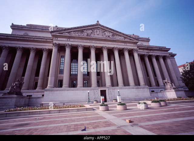 National Archives in Washington D.C. - Stock Image