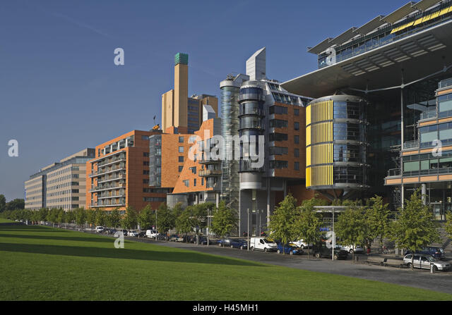 Germany, Berlin, Linkstrasse, office building, town, capital, part town, architecture, building, department store, - Stock-Bilder