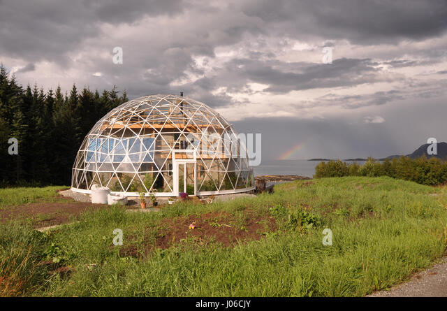 Geodesic Dome House Stock Photos Geodesic Dome House