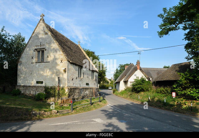 The building which served as the inspiration for the village school in the novel  Tom Brown's School Days, Uffington, - Stock Image