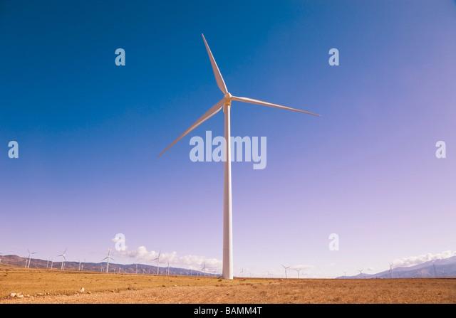 La Calahorra, Granada Province, Spain; Wind turbine - Stock Image