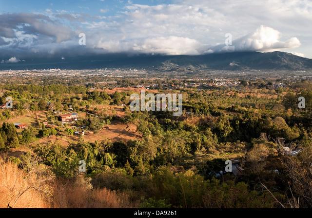 San Jose Valley, Costa Rica - Stock Image