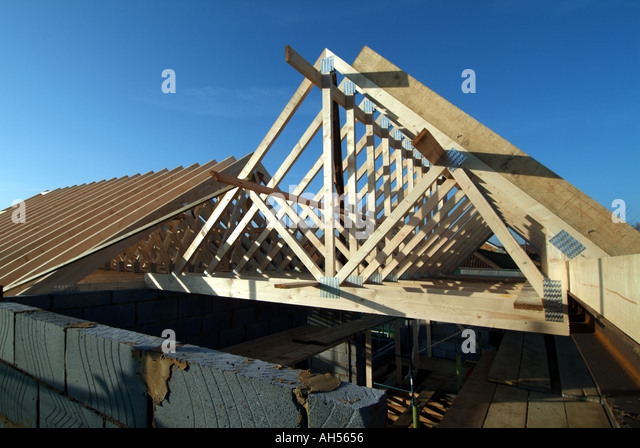 Prefabricated Roof Trusses Stock Photos Prefabricated