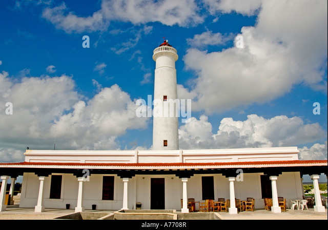 Mexico Cozumel Punta Sur Celarain Lighthouse - Stock Image