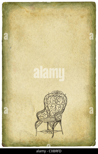 Old chair illustration - Stock Image