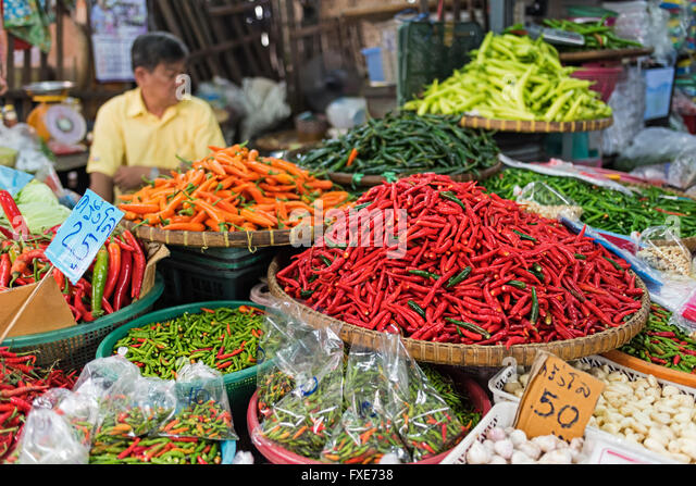 Asian Market And Colorful Stock Photos & Asian Market And ...