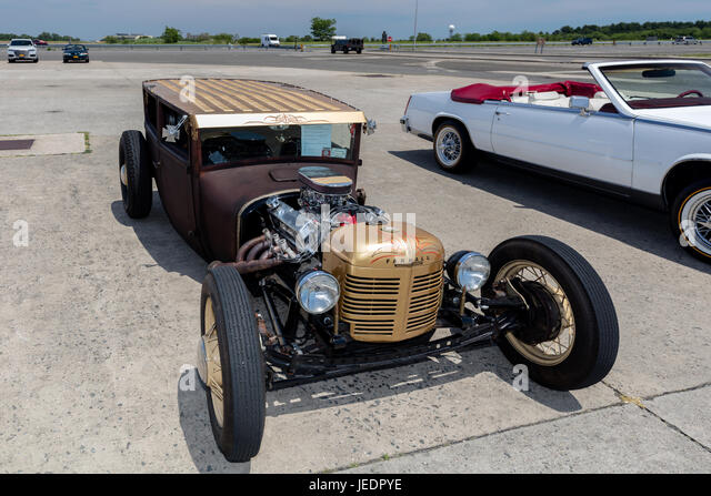 1927 Ford on display at the Antique Automobile Association of Brooklyn Annual Show at the Floyd Bennett Field in - Stock Image