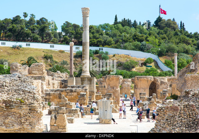 Ruins of Carthage, Tunis, Tunisia - Stock Image