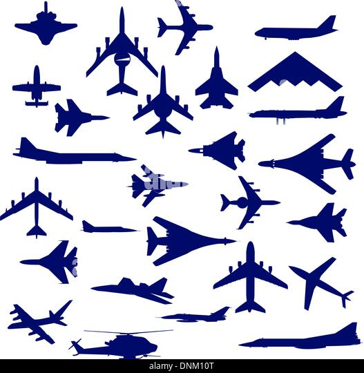 Combat aircraft. Team.  vector illustration for designers - Stock Image