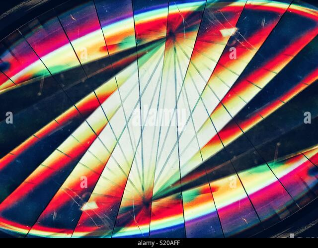 lines and light refraction concept - Stock Image