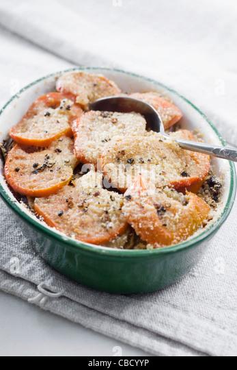 Tomato and eggplant gratin - Stock-Bilder
