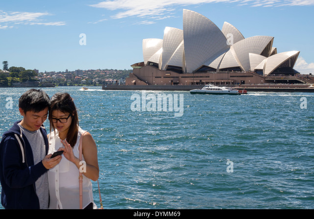 Sydney Australia NSW New South Wales Circular Quay Sydney Harbour harbor Opera House ferry ferries Parramatta River - Stock Image