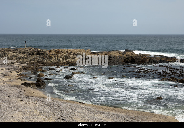 Atlantic Ocean at Sea Point near Cape Town - Stock Image