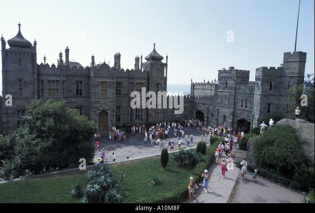 Crimea, Alupka, Voroncov palace - Stock Image