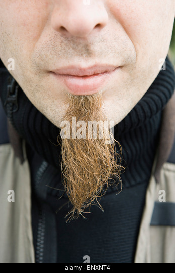 Man with long soul patch, close-up - Stock Image