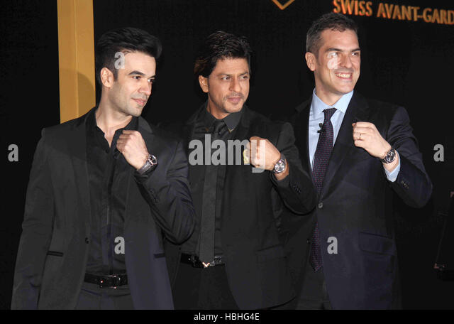 Bollywood Punit Malhotra Shah Rukh Khan Franck Dardenne Tag Heuer India during unveiling Tag Heuer's Golden - Stock-Bilder