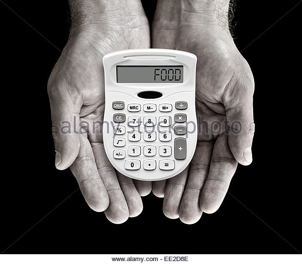 cost of food - Stock Image