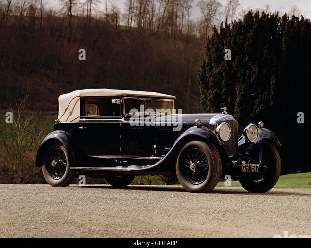 1930 Bentley 6.5 litre Speed Six drophead coupe. Country of origin United Kingdom. - Stock Image