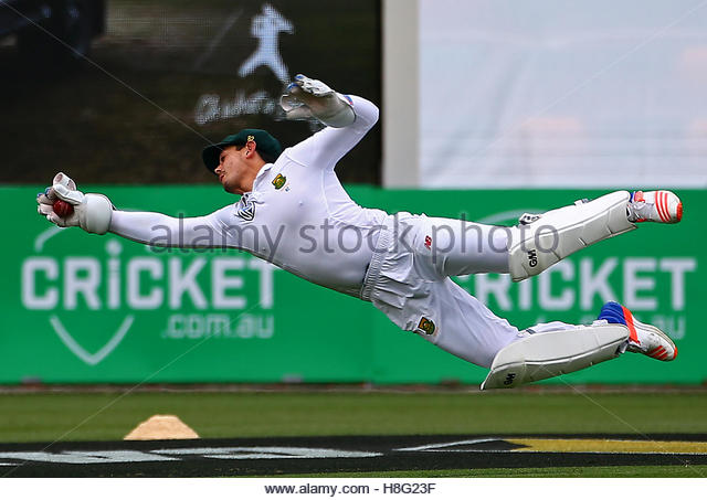 Cricket - Australia v South Africa - Second Test cricket match - Bellerive Oval, Hobart, Australia - 12/11/16 South - Stock Image