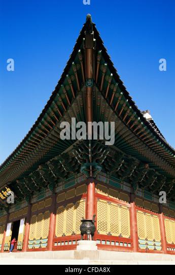 Korea, Seoul, Deoksugung Palace, Junghwajeon Pavilion - Stock Image