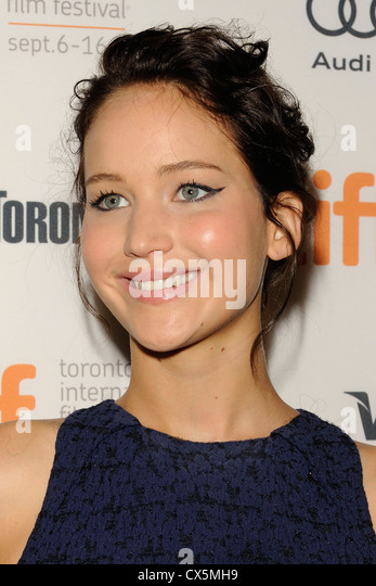 Headshot of actress Jennifer Lawrence at the 2012 Toronto International Film Festival. - Stock Image