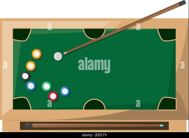 Snooker ball pyramid stock photos snooker ball pyramid for Pool design graphic